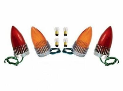 1959 Cadillac 59 Caddy Taillight Brake Stop Lamp Red Amber Lens Bulb Assembly