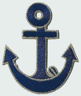 Ecusson patche Marine Ancre patch Marin capitaine thermocollant