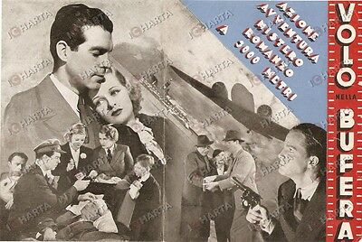 1936 VOLO NELLA BUFERA Thirteen hours by air Fred MCMURRAY Joan BENNET Volantino