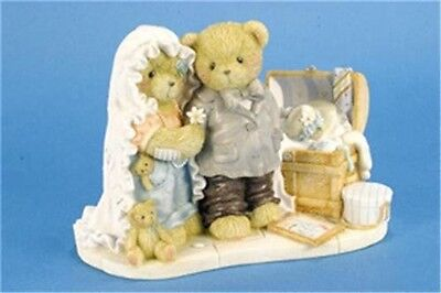 Cherished Teddies Retired Wedding Bride and Groom Double Figurine 0000822