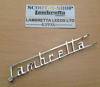 Lambretta Chrome Legshield Badge Sx & 125 Special Large Type Brand New
