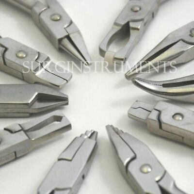 10 Orthodontic Pliers Dental Instruments Laboratory Lab