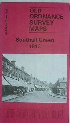 Old Ordnance Survey Detailed Maps Southall Green Middlesex 1913 Godfrey Edition
