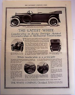 autombiles by White Motors Cars original vintage 1914 Ad
