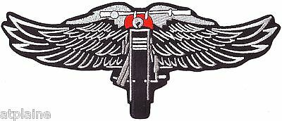 Patch brodé MOTORCYCLE WINGS GM - Style BIKER HARLEY