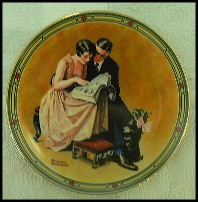 """Edwin M Knowles Norman Rockwell Plate """" A Couples Commitment"""""""