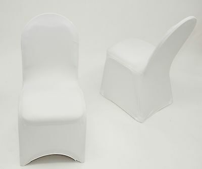 100 White Ivory Black  Blue Red Spandex Stretch  Wedding Banquet Chair Covers