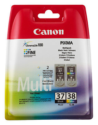 Canon Original Pg37+Cl38 Set Drucker Patrone Pixma Mp140 Mp190 Mp210 Mp220 Mp470