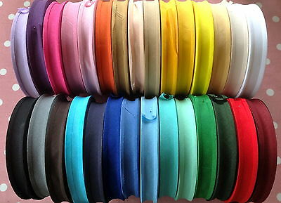 "50M Roll Best Quality Cotton Bias Binding-25 Mm/1"" Wide. Choose From 27 Colours"