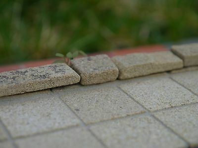 100 1:12th Scale Real Stone Sandstone Dolls House Patio Slabs (100 sq ins)
