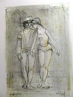 Two Dancers - by Edna Hibel - Limited Edition Hand Signed and Numbered