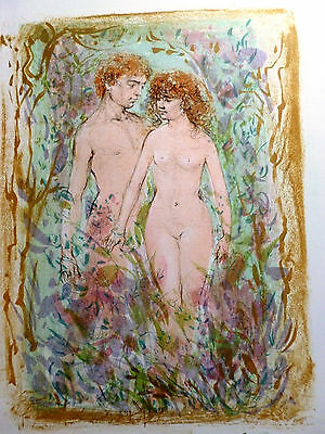 First Couple by Edna Hibel - Limited Edition Hand Signed and Numbered