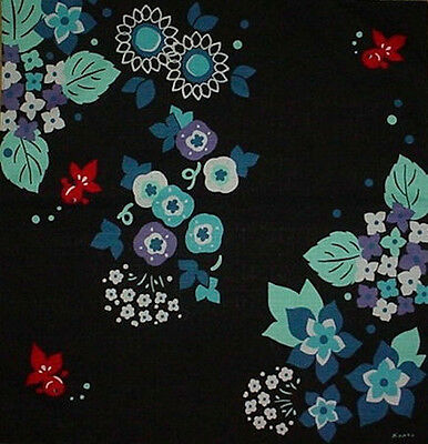 Furoshiki Wrapping Cloth Cotton Japanese Fabric 'Goldfish and Hydrangea' 50cm