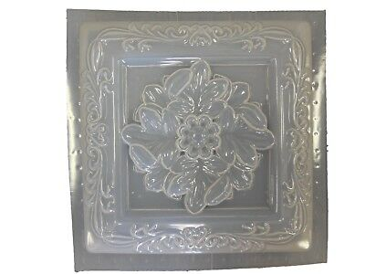 Sq Leaf Wall Plaque Plaster Or Concrete Mold 7067