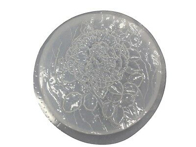 Decorative Rose Flower Stepping Stone Plaster Concrete Mold 1073 Moldcreations
