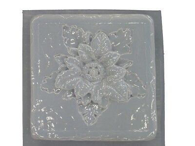 Roman Flower #2 Stepping Stone Plaster or Concrete Mold 1001 Moldcreations