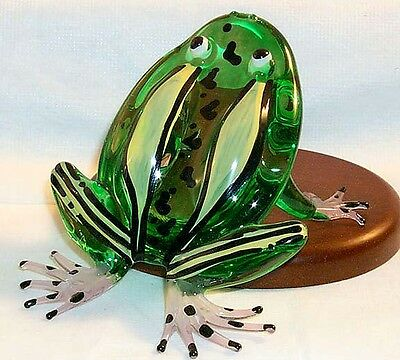 Frog Meadows Puddle Jumper Large Art Glass 2 Coloring Styles 6 Pc. Lot