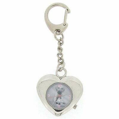 Keith Kimberlin Heart Shaped Puppy Grey Dial Ladies Keyring Watch KK4