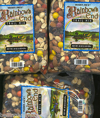 Trader Joe's Rainbow End Trail Mix, 3X1 Pound Bags.  FREE FAST SHIPPING Delicous