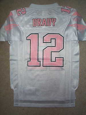 845a2eda5 REEBOK New England Patriots TOM BRADY nfl PINK Jersey Youth  GIRLS  (xl-
