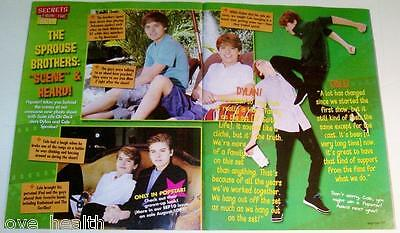 """DYLAN & COLE SPROUSE - 11"""" x 8"""" MAGAZINE PINUP - POSTER - TEEN BOY ACTOR"""