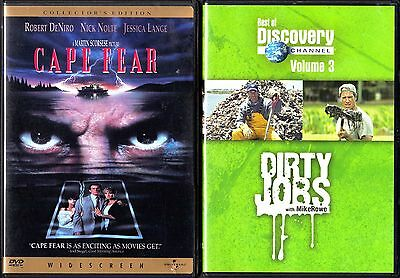 Cape Fear (DVD, 2001, 2-Disc Set, Collector's Edition) & Dirty Jobs Volume 3