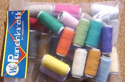 Webster Craft 27 x Acrylic Punch Needle Embroidery yarn for punch tool use