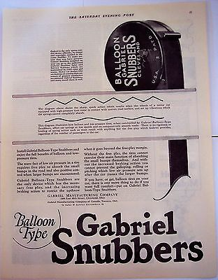 1924 original vintage Ad Gabriel Balloon-Type Snubbers for tires