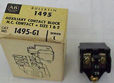 New Allen Bradley  Series L Auxiliary Contact Block  1495-G1
