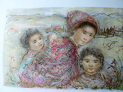 Bundles of Love by Edna Hibel - Limited Edition Hand Signed and Numbered