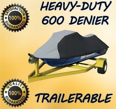 600 DENIER Kawasaki STX 900,STX 1100 Jet Ski Trailerable Cover Black/Grey