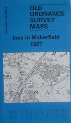 Old Ordnance Survey Maps Ince in Makerfield near Wigan Lancs 1927 Sheet 93.12