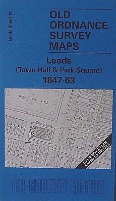 Old Ordnance Survey Map Leeds Town Hall & Park Square 1847-63 S10 Brand New