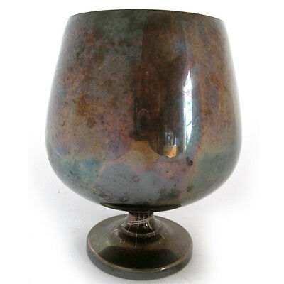 """7"""" Vintage-Antique POOLE SILVER CO Silverplate Marked EPCA 831 Wine CUP GOBLET"""