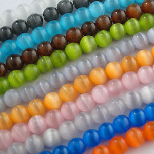 Cat Eye Gemstone Round Loose bead 11Color Or Mixed 4mm,6mm,8mm,10​mm,12mm R307
