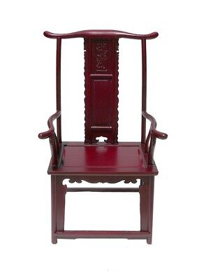 Dark Red Chinese Ming Style Rosewood Yoke-Back Arm Chair WK2287