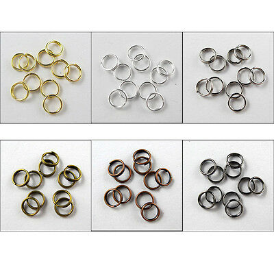 Split Ring DOUBLE Connector 4mm,5mm,6mm,8mm,10mm,12mm,14mm 6Colors-1 R371