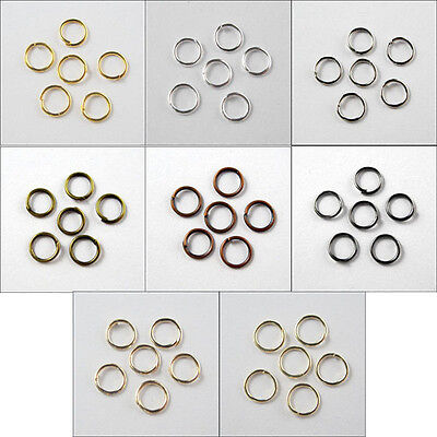 Jump Ring Open Connector 4mm,5mm,6mm,7mm,8mm,10mm,12mm,20mm 8Colors-1 R370