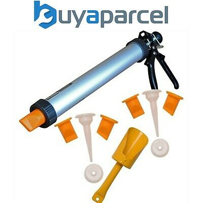 Roughneck Brick Mortar and Tile Grouting Pointing Gun - Spare Nozzles & Plunger