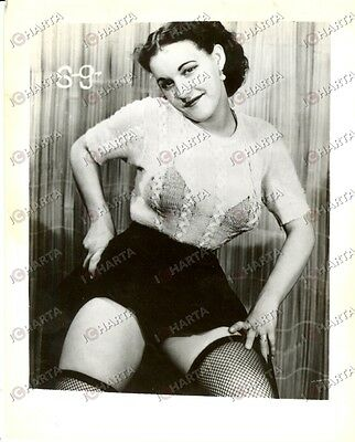 1965 ca USA - EROTICA VINTAGE Woman in a sheer sweater  *PHOTO