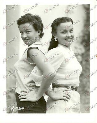 1965 ca USA - EROTICA VINTAGE Two women posing in sheer blouses *PHOTO