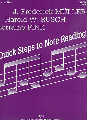 QUICK STEPS TO NOTE READING Violin Book 1 *NEW* String Tutor Muller Rusch Fink