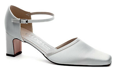 Ivory Satin Bridal Bridesmaid Wedding Shoes All Sizes Style CAMPBELL