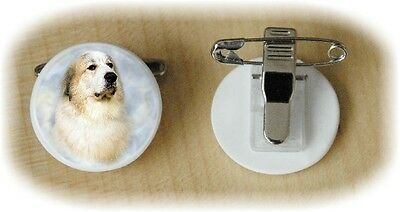 Pyrenean Mountain Dog Fine Bone China Ring Clip by Starprint