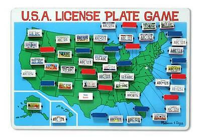USA License Plate Travel Game - by Melissa and Doug - BRAND NEW - #2098