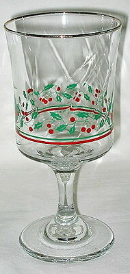 Arby's 1986 & 1987 Christmas Collection Water Goblet