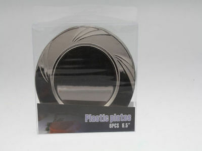 12 x 6pk (72) Side Plate 16.5cm Plastic Platinum disposable bulk wholesale