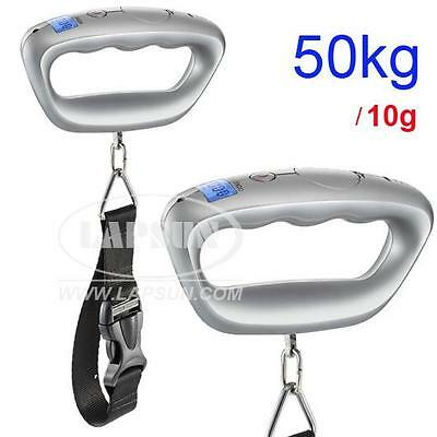 110lb 50kg / 10g Digital Travel Hanging Suitcase Luggage Scale Portable Baggage