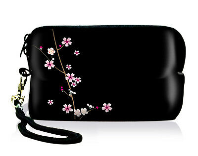 Flower Mini Soft Case Bag Pouch For Digital Camera Cellphone IPOD Touch IPHONE