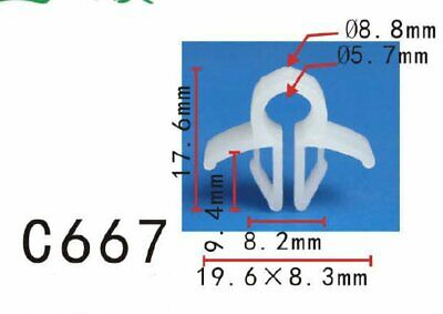 """20 Pcs 19mm 3//4/"""" ID Car Rod Wire Cable Loom Routing Clip Nylon Clamp 11.5mm Hole"""